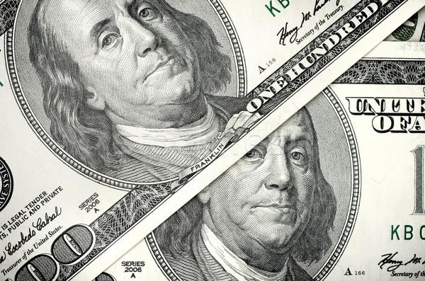Dólares dos cien dólar billetes ojos Foto stock © Givaga