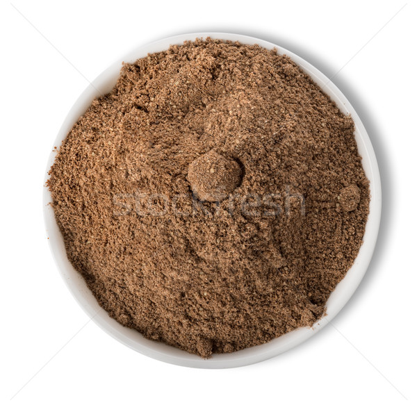 Ground pepper in plate isolated Stock photo © Givaga