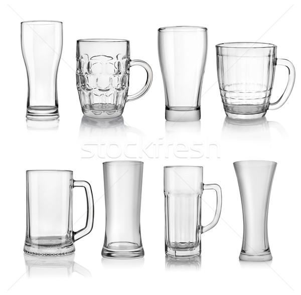 Beer glasses Stock photo © Givaga