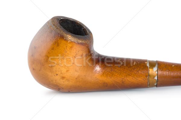 Dohányzás cső izolált öreg fehér Stock fotó © Givaga