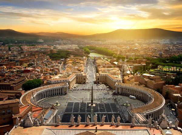 мнение Ватикан Top закат Италия облака Сток-фото © Givaga