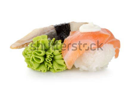 Sushi and wasabi isolated Stock photo © Givaga