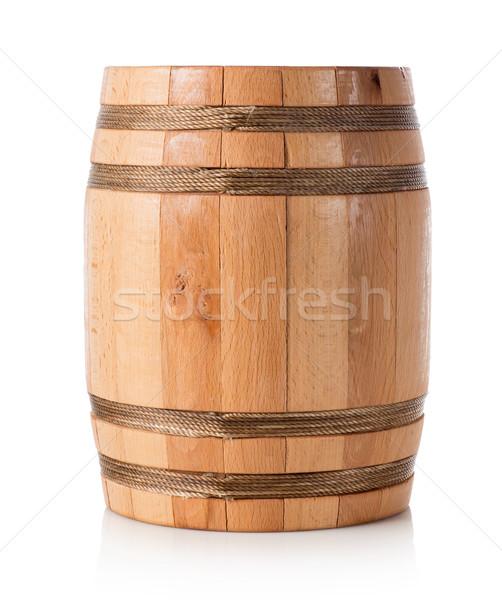 Bois baril isolé blanche vin boire Photo stock © Givaga