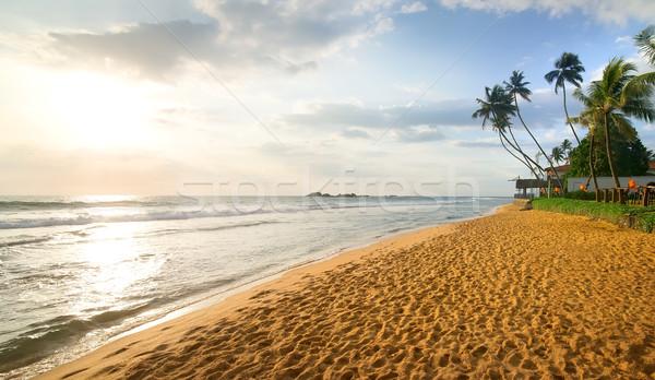 Akşam okyanus güzel plaj Hint su Stok fotoğraf © Givaga
