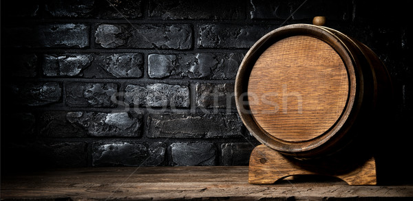 Wooden cask and bricks Stock photo © Givaga