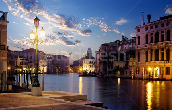 Naplemente csatorna idő Velence Olaszország égbolt Stock fotó © Givaga