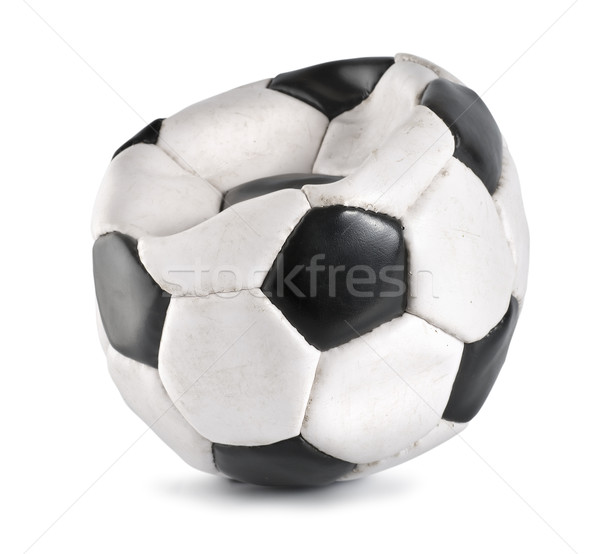 Deflated soccer ball isolated Stock photo © Givaga