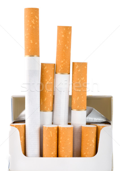 Pack of cigarettes (Path) Stock photo © Givaga