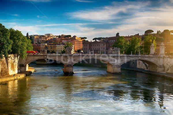Ponte Vittorio Emanuele II Stock photo © Givaga