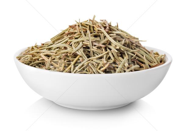 Zdjęcia stock: Rozmaryn · tablicy · odizolowany · biały · żywności · przyprawy