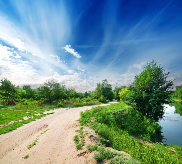 Country road and river Stock photo © Givaga