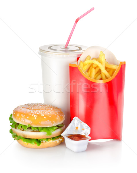 Sandwich with french fries Stock photo © Givaga