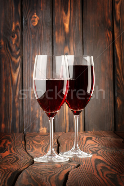 Two glass of red wine Stock photo © Givaga