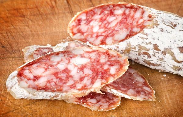 Salami on a cutting board Stock photo © Givaga