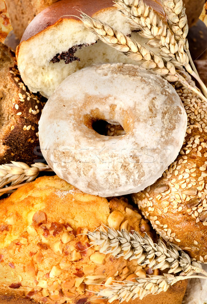 Assortment of fresh breads Stock photo © Givaga
