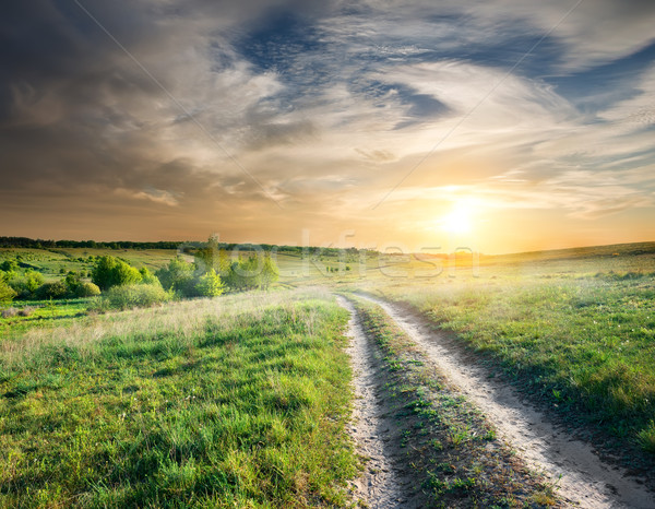 Country road at sunset Stock photo © Givaga