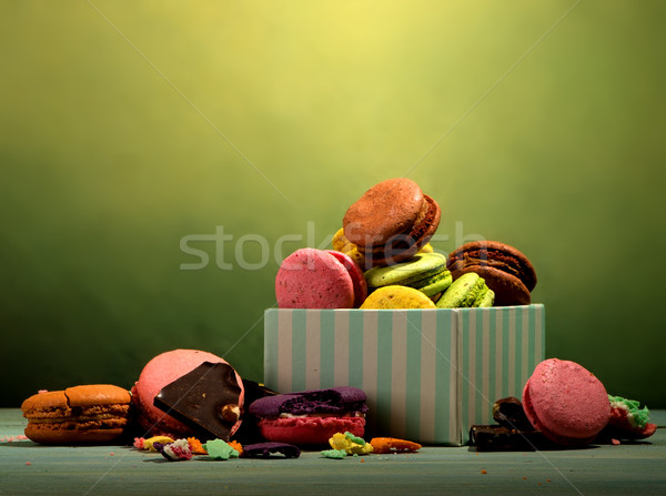 Assortment of macarons Stock photo © Givaga