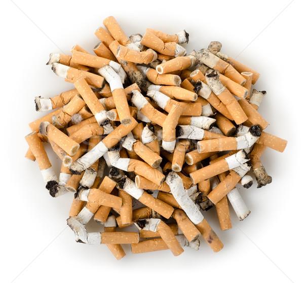 Sigaret geïsoleerd gerookt sigaretten witte roken Stockfoto © Givaga
