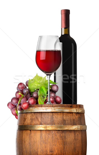 винограда вино баррель изолированный белый лист Сток-фото © Givaga