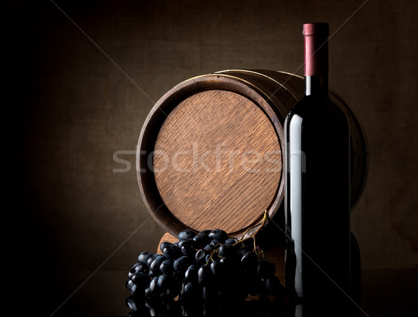 Wine on dark background Stock photo © Givaga