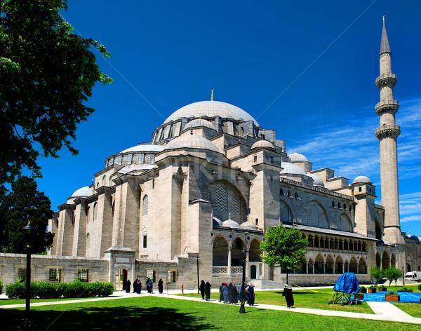Mezquita Estambul soleado verano día viaje Foto stock © Givaga