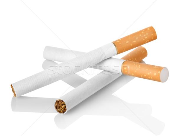 Stok fotoğraf: Sigara · turuncu · filtre · yalıtılmış · beyaz