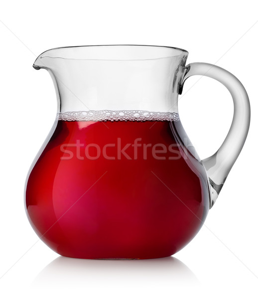 Stock photo: Pomegranate juice in a jug