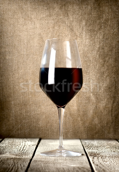 Glass of red wine Stock photo © Givaga