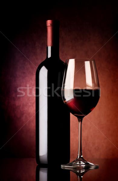 Red wine on vinous background Stock photo © Givaga