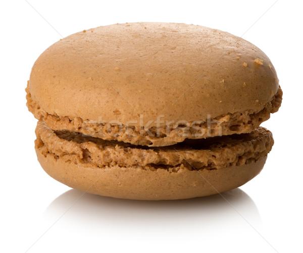 Zdjęcia stock: Karmel · macaron · odizolowany · biały · żywności · deser