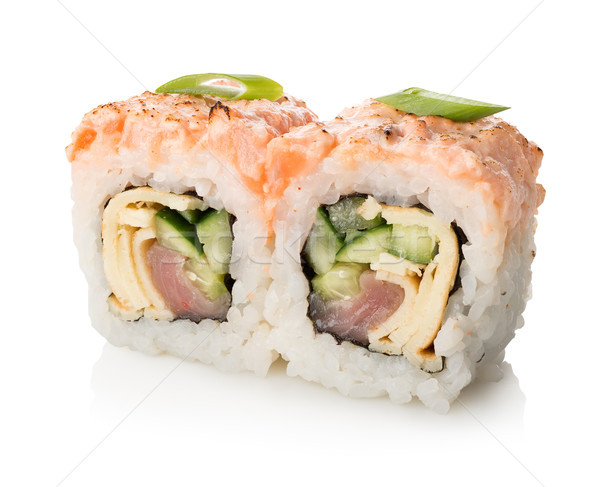 Iki sushi yalıtılmış beyaz gıda Stok fotoğraf © Givaga