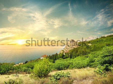 Beautyful sunrise in the sea Stock photo © Givaga