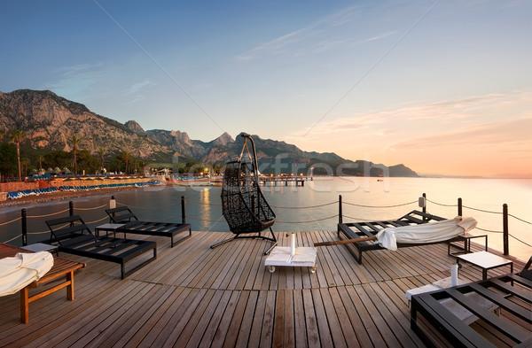 Pier in the sea Stock photo © Givaga