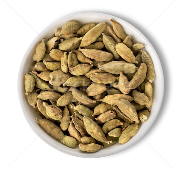 Cardamom in plate isolated Stock photo © Givaga