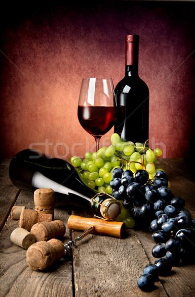 Naturaleza muerta mesa de madera fiesta frutas restaurante mesa Foto stock © Givaga