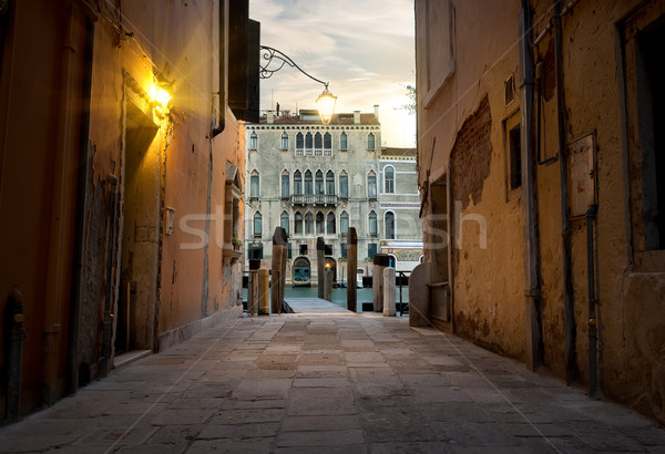 Narrow street in Venice Stock photo © Givaga