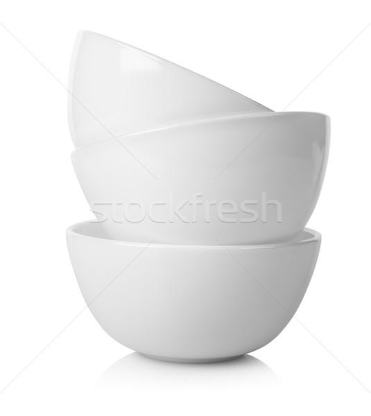 Blanco aislado alimentos contenedor vacío tazón Foto stock © Givaga