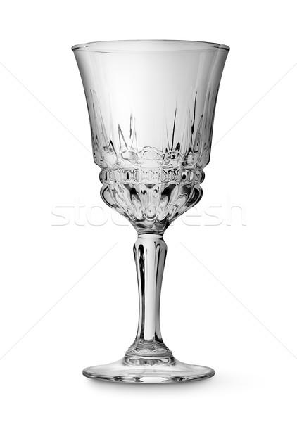 Weinglas isoliert weiß Alkohol Feier niemand Stock foto © Givaga