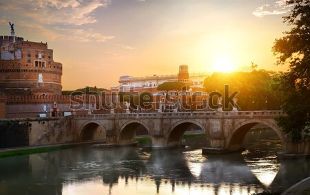 Romana castello autunno santo cielo costruzione Foto d'archivio © Givaga