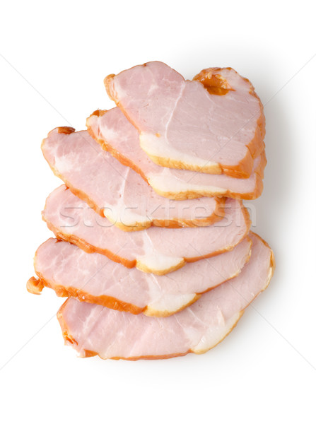 Sliced ham isolated Stock photo © Givaga