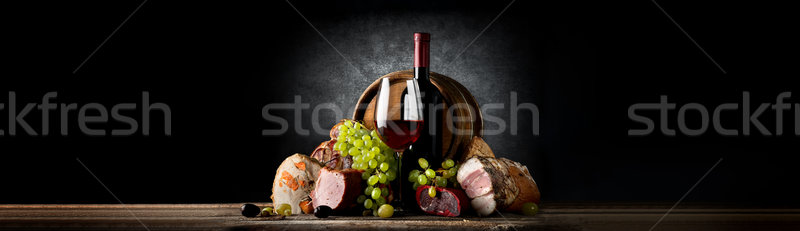 Composition with wine and food Stock photo © Givaga