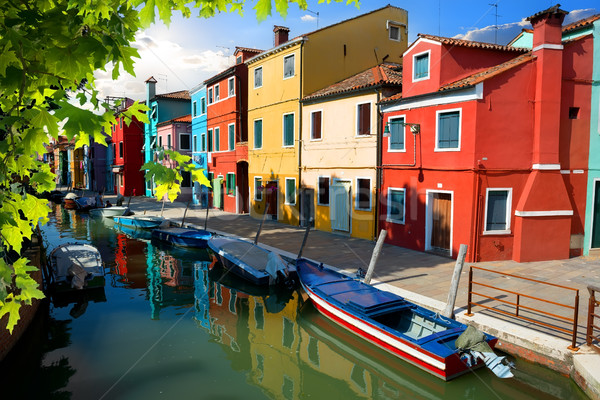 Boats in Burano Stock photo © Givaga