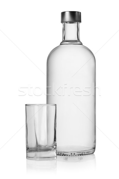 Bouteille verre vodka isolé blanche liquide Photo stock © Givaga