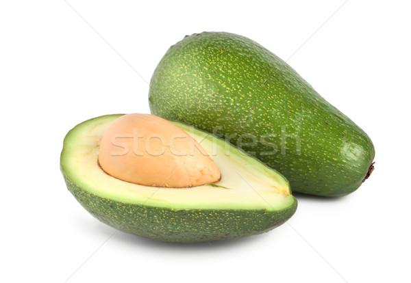 Tropische vruchten avocado geïsoleerd rijp witte Stockfoto © Givaga