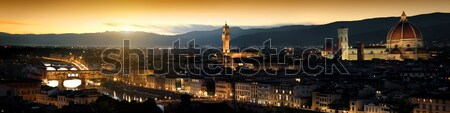Panoramic view of Florence Stock photo © Givaga