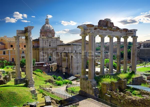 Roman Forum in summer Stock photo © Givaga