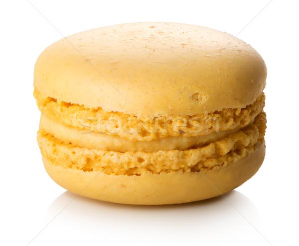 Citron macaron isolé blanche alimentaire crème Photo stock © Givaga