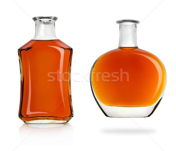 Bouteilles cognac isolé blanche boire bouteille Photo stock © Givaga