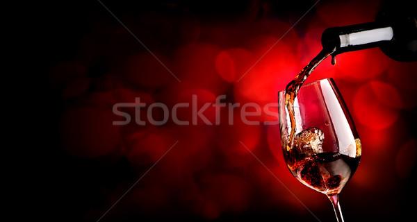 Pouring wine on vinous Stock photo © Givaga