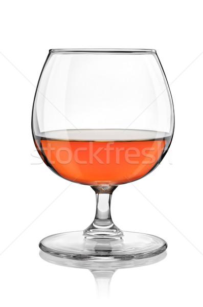 Brandy szkła odizolowany biały ścieżka Zdjęcia stock © Givaga